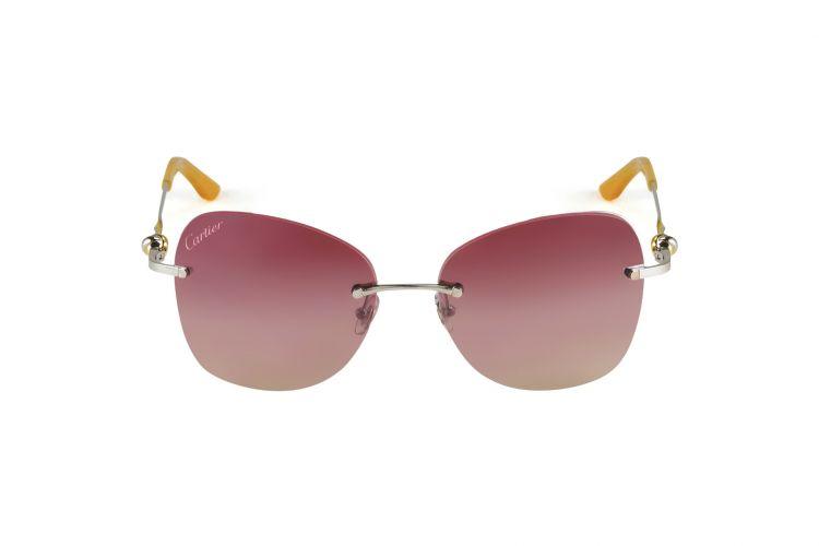 03c54fc91854ec Lunettes de soleil Cartier - Collection Trinity Métal palladié doré rose