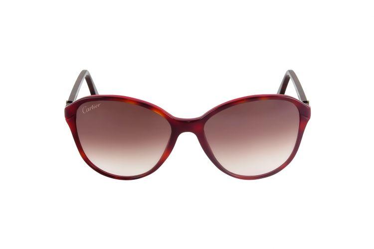 f4d39059af5d95 Lunettes de soleil Cartier - Collection Décor double C Red Havana Cateye
