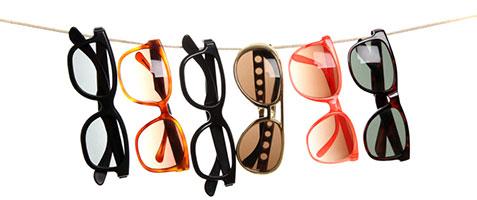 Lunettes de vue et lunettes de soleil au choix