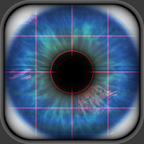 Oeuil lors de la prise de mesure ophtalmologique