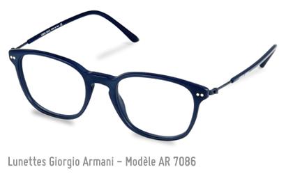 Lunette de vue Giorgio Armani AR7086 en bleu