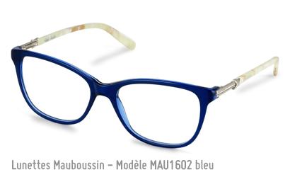 Monture de la marque Mauboussin MAU1602 en bleu électrique