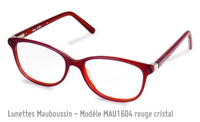 Monture femme Mauboussin 1604 en rouge