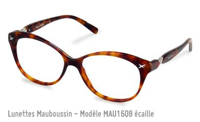 Monture Mauboussin modèle 1608 en écaille