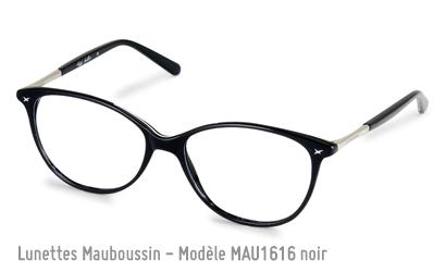 Lunettes optiques Mauboussin modèle 1616 en noir