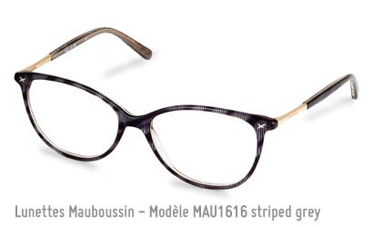 Monture Mauboussin en gris striée. Modèle 1616